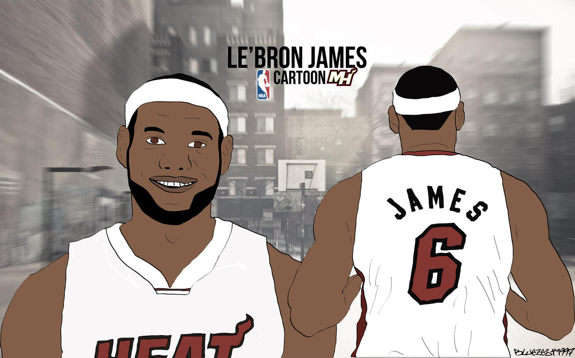 Le'Bron James Cartoon Wallpaper By Bluezest1997 On DeviantArt