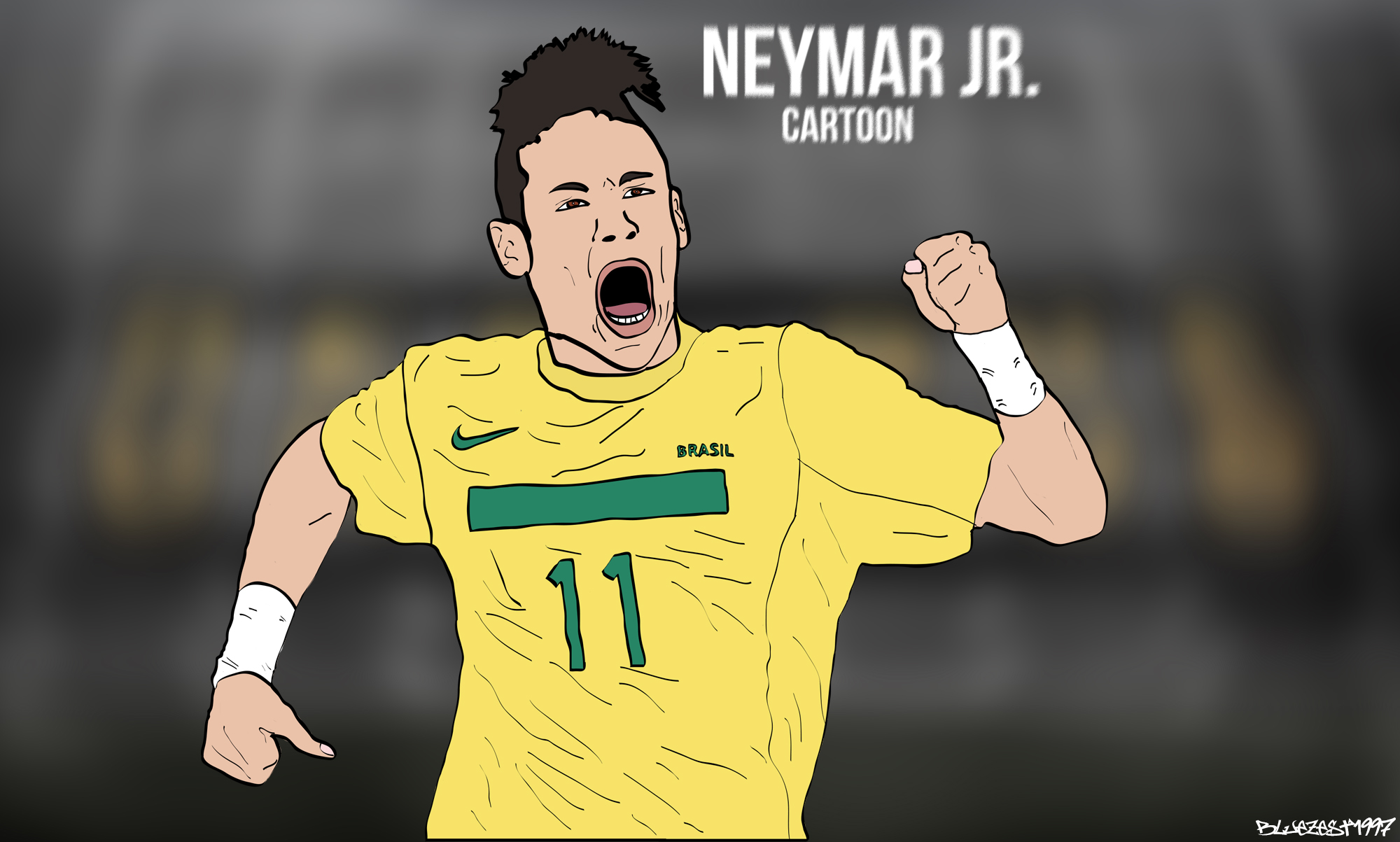 Neymar JR Cartoon Wallpaper By Bluezest1997 On DeviantArt