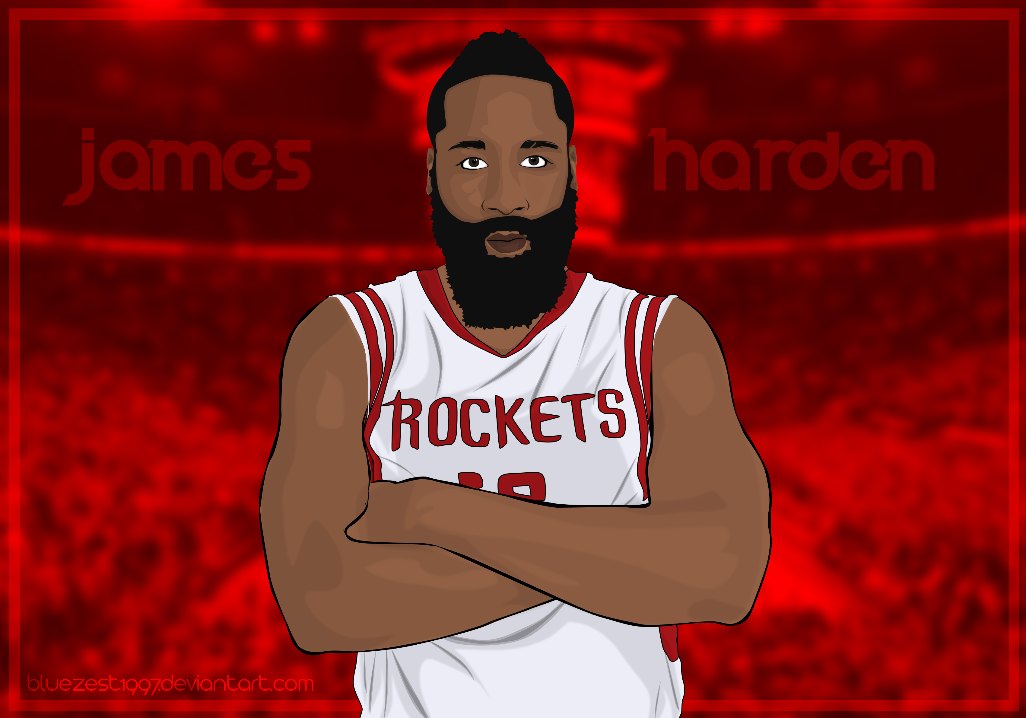 James Harden Vector By Bluezest1997 On DeviantArt