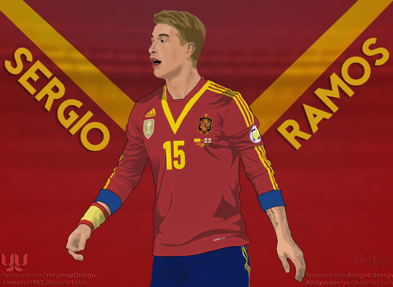 Sergio Ramos Vector by bluezest1997