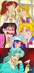 Sailor Moon redraws by stuffaeamade