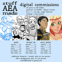Digital Commissions - 2018 Rates