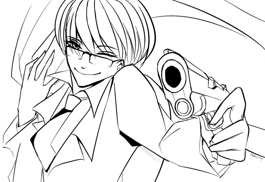 Shoot U baby Estonia Lineart by Arthliams