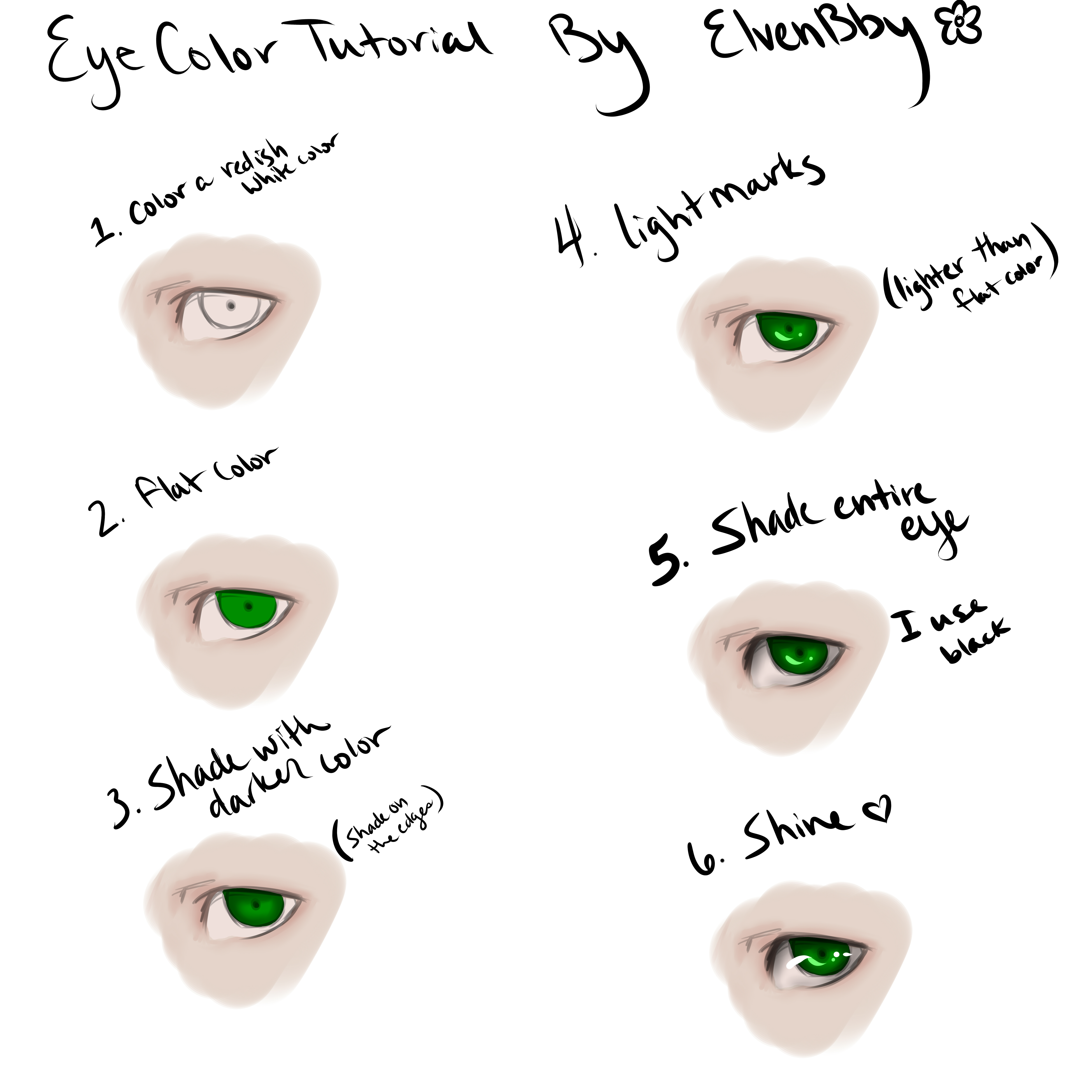Simple Eye Color Tutorial by ElvenBby on DeviantArt