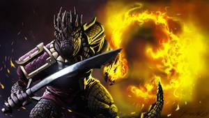 Argonian dragonknight by Yacrical