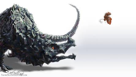 Bismuth Dragon by Yacrical