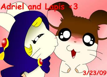 Lapis Kissing Adriel by Klonoa13