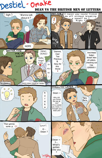 Destiel Omake - Dean VS the British Men of Letters by Imogen-Wave