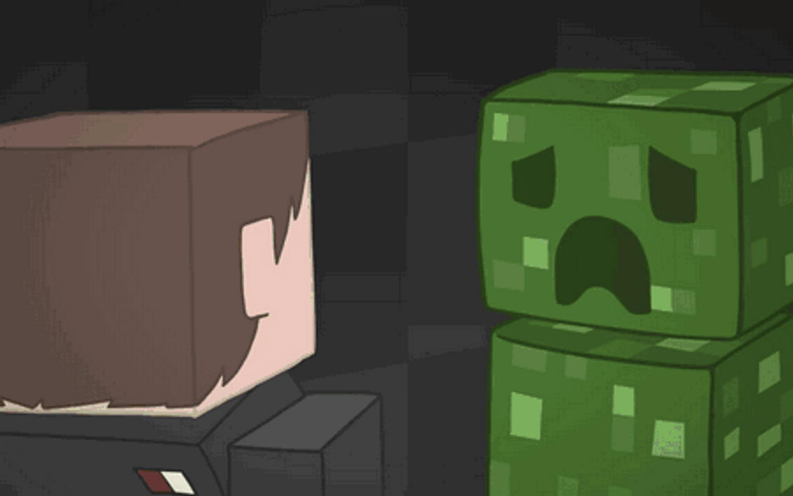 Minecraft gif creeper boom a by kobodestro on deviantart - Giphy creeper ...