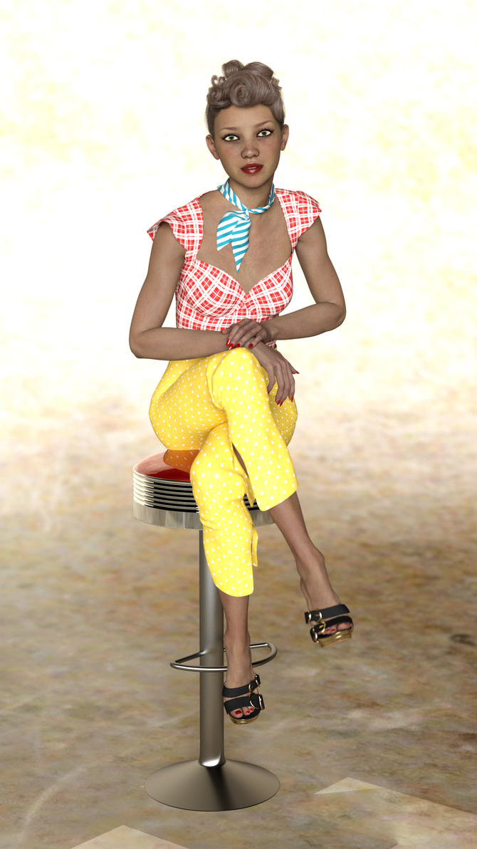 50's Pinup 2 by Doing-it-in-3d