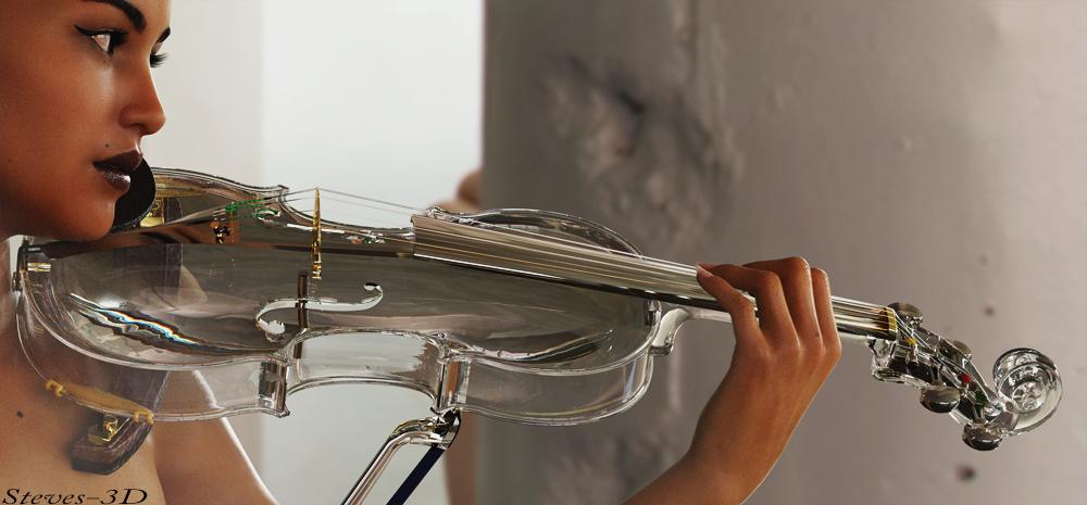 Glass violin by Steves-3D