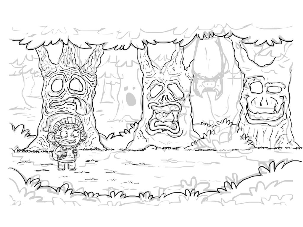 Scary Forest unfinished by marmotagem