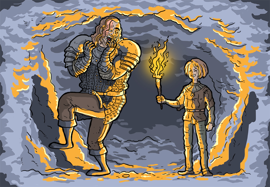 Arya and Hound by marmotagem