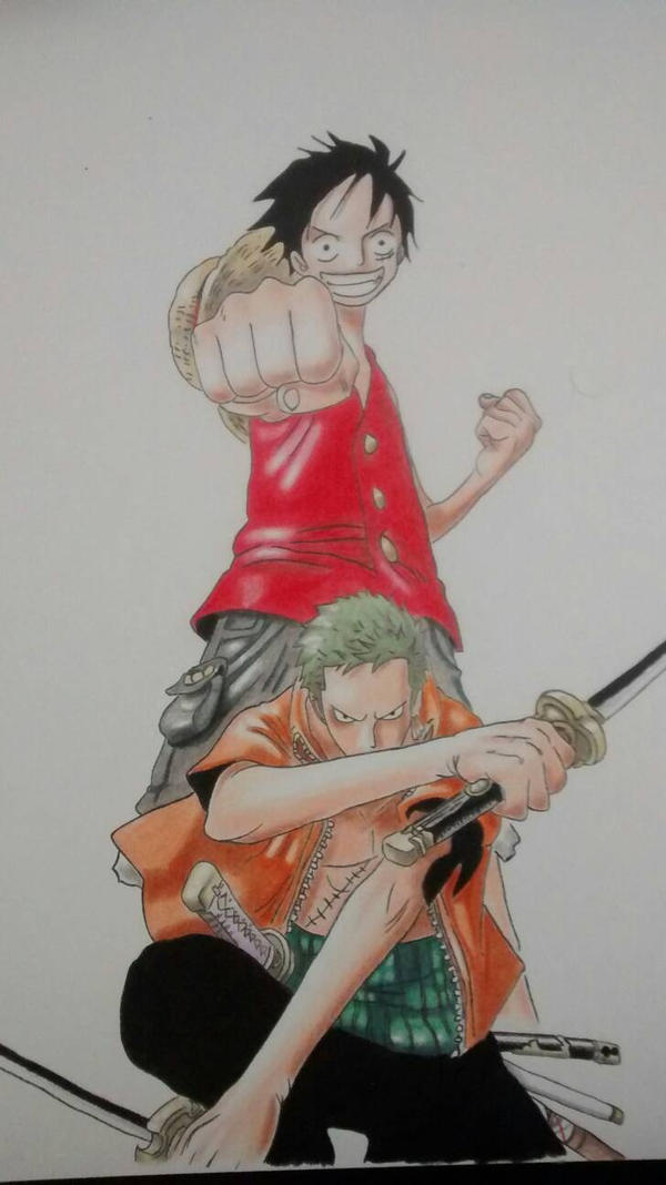 Luffy e Zoro by allanviniciuus