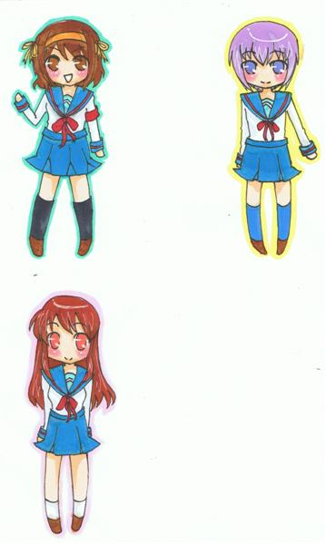 [COMMIS] Art commissions {TAMMY} OPEN Haruhi_keychains_by_Tamarah