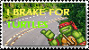 I Brake For Turtles Stamp by Khymera