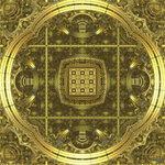 Golden Fractal Geomancy by Spangler-Imagery