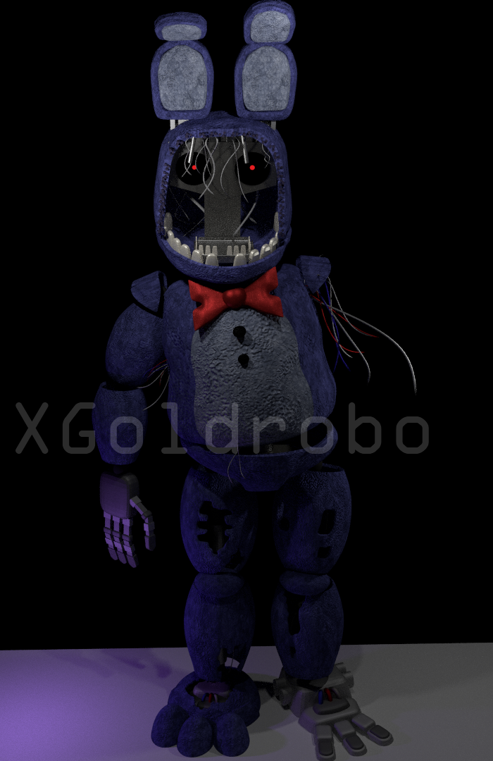 Withered bonnie model by Michael-V on DeviantArt