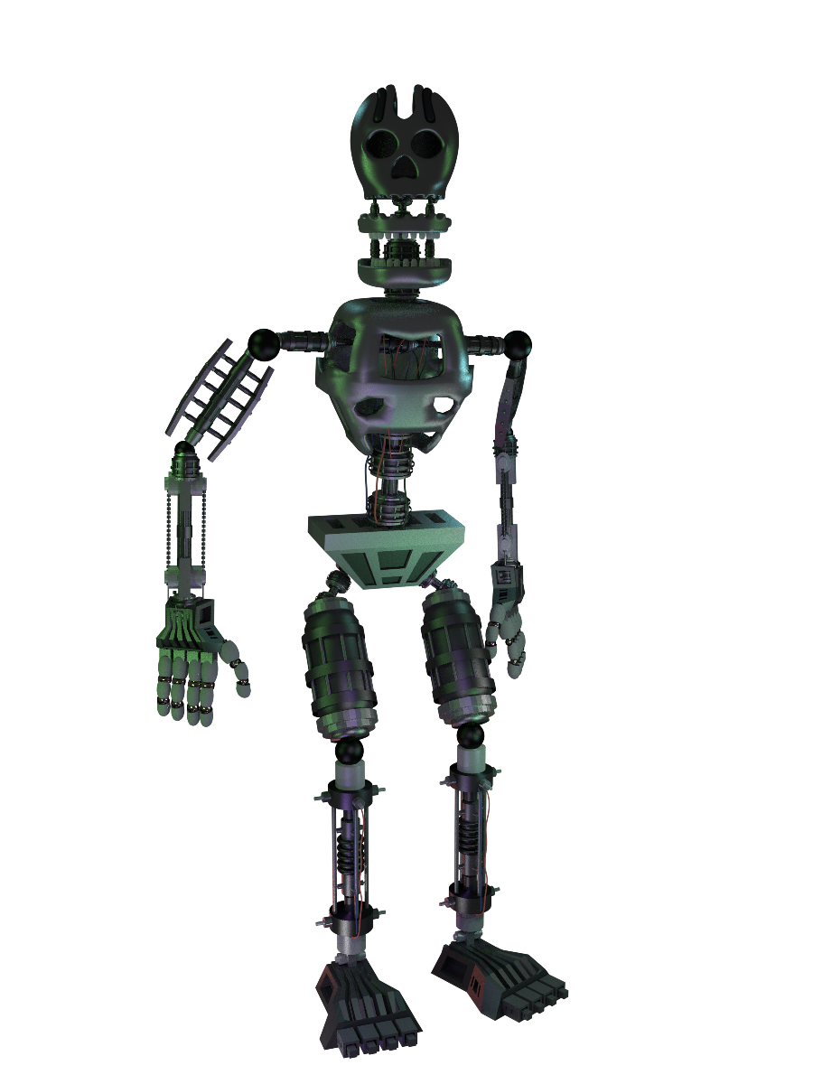 Fnaf 4 Spring Endoskeleton Model By Michael