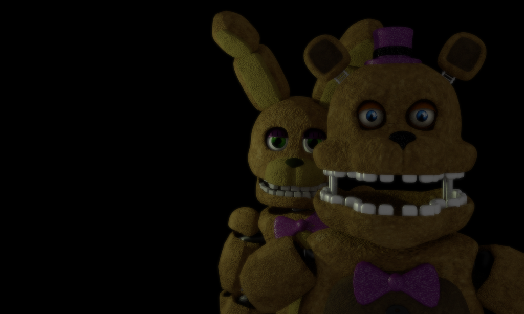 Fred bear and spring bonnie by michael v on deviantart