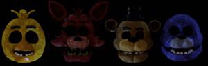 FNaF 1 Animatronic Heads