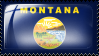 Montana State Flag Stamp by hcklbry