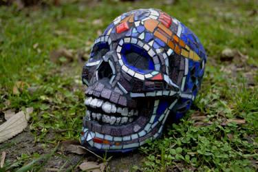 Mosaic Skull by tEO