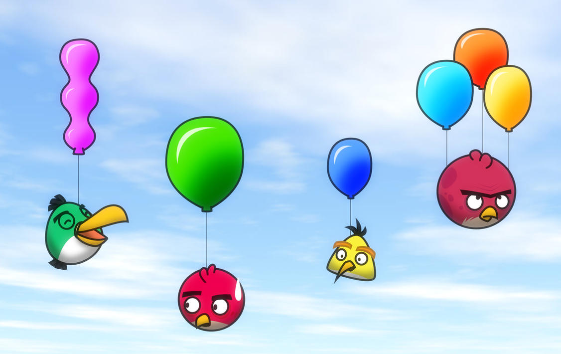 Birds and Balloons by Gav-Imp