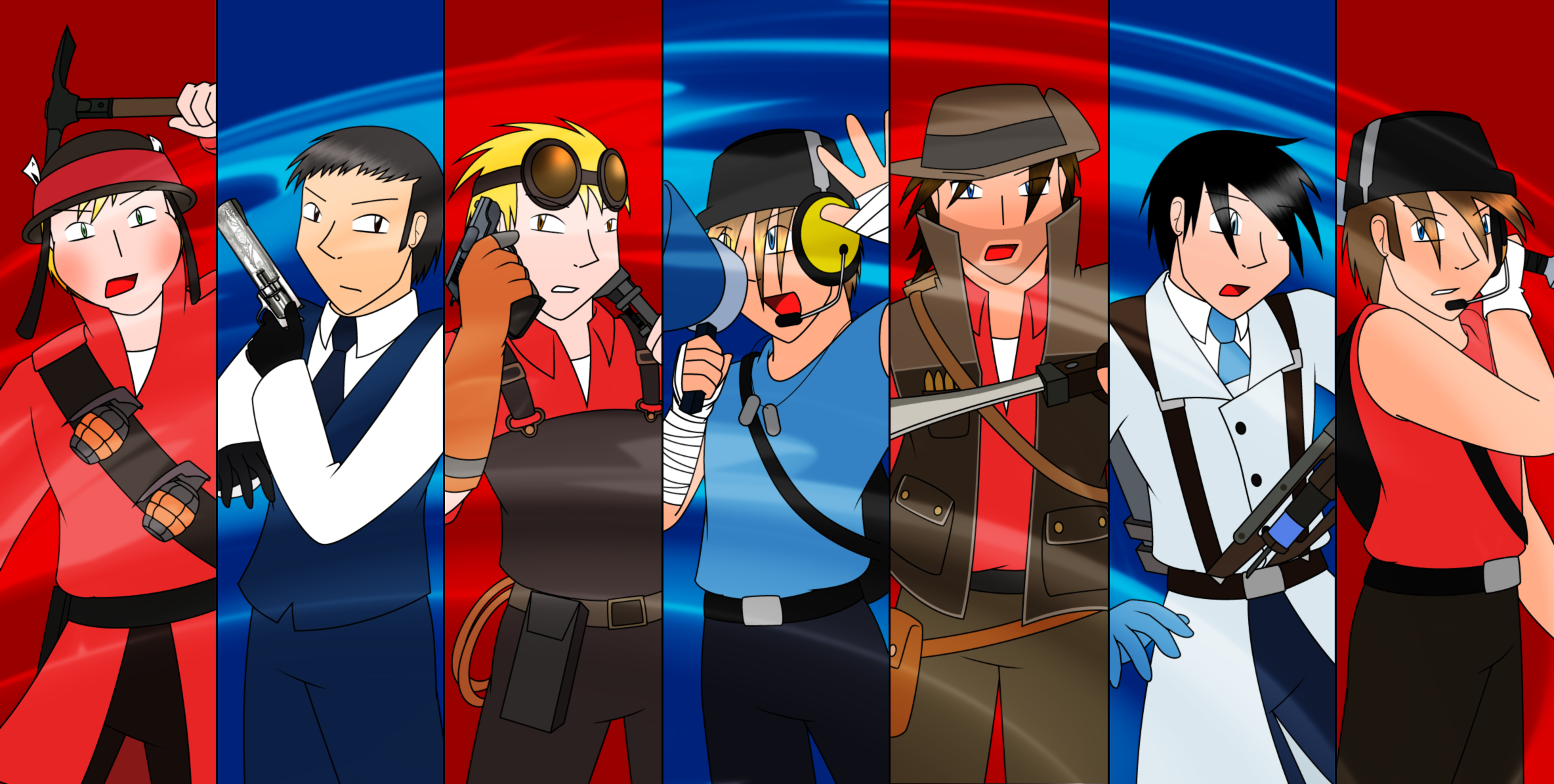 TF2 - RED and BLU Figh...