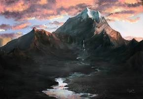 Erebor sunrise by WermoongRey