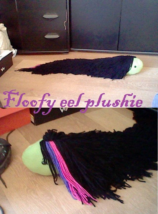 Floofy eel plushie by Insane-Sanety