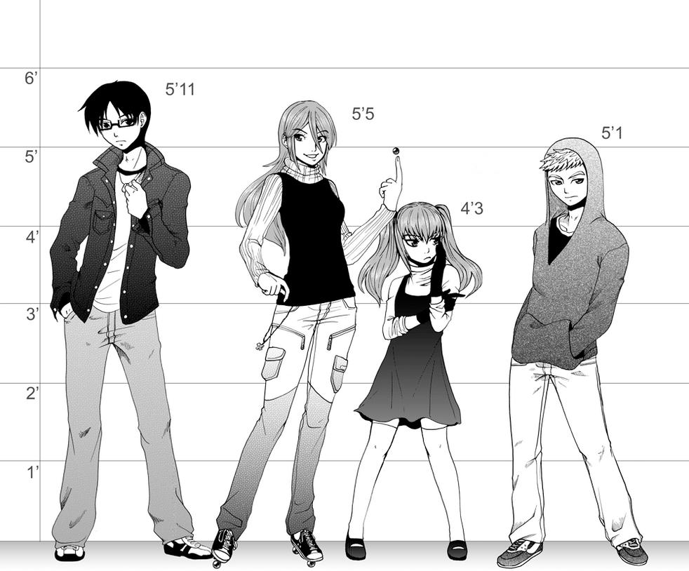 6 Foot Tall Anime Characters : Shamrock height chart by ashikai on deviantart
