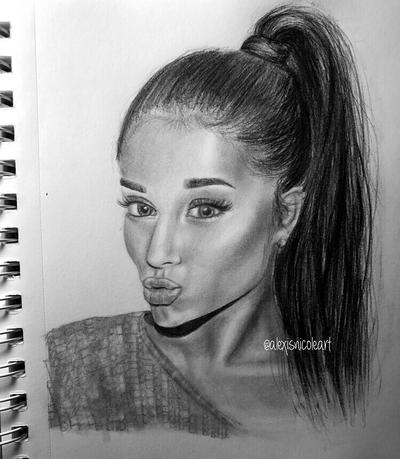Ariana grande drawing by alexis nicole by alexisnicoleartt