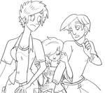 Dan Vs. - Genderbent Trio LineArt