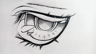 Eye uncolored by HikaruHeeysin