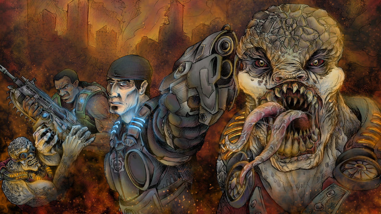 Gears of War 3 Contest Entry by JeffyP
