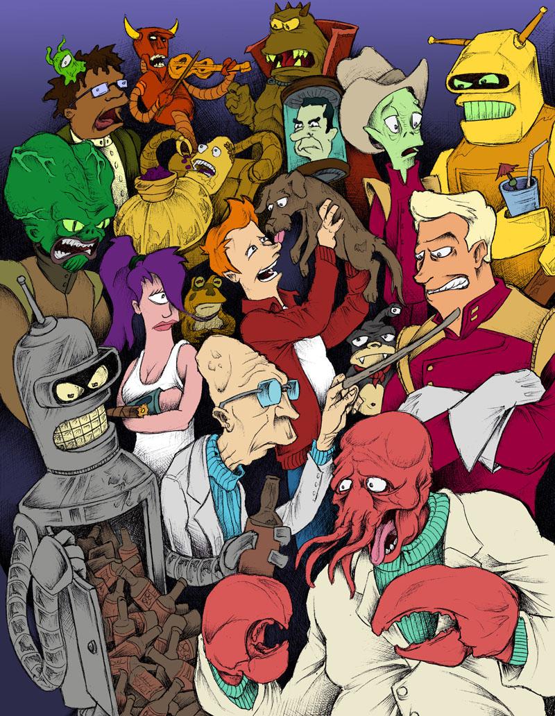 Futurama Ensemble by JeffyP