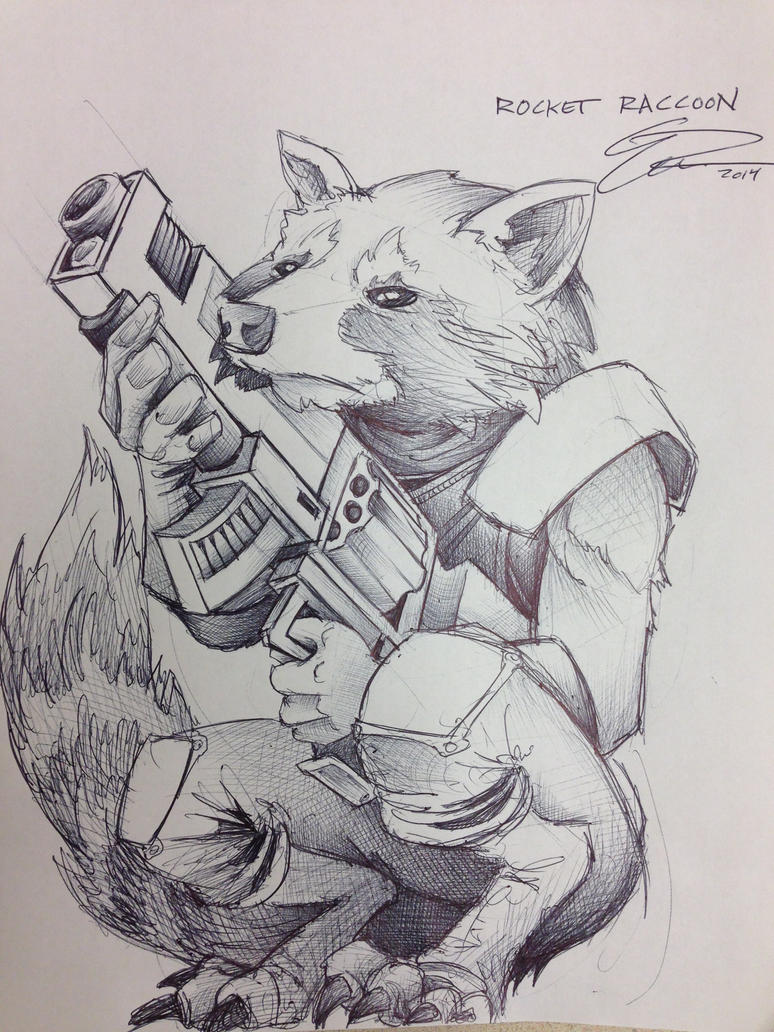 Rocket Raccoon by JeffyP