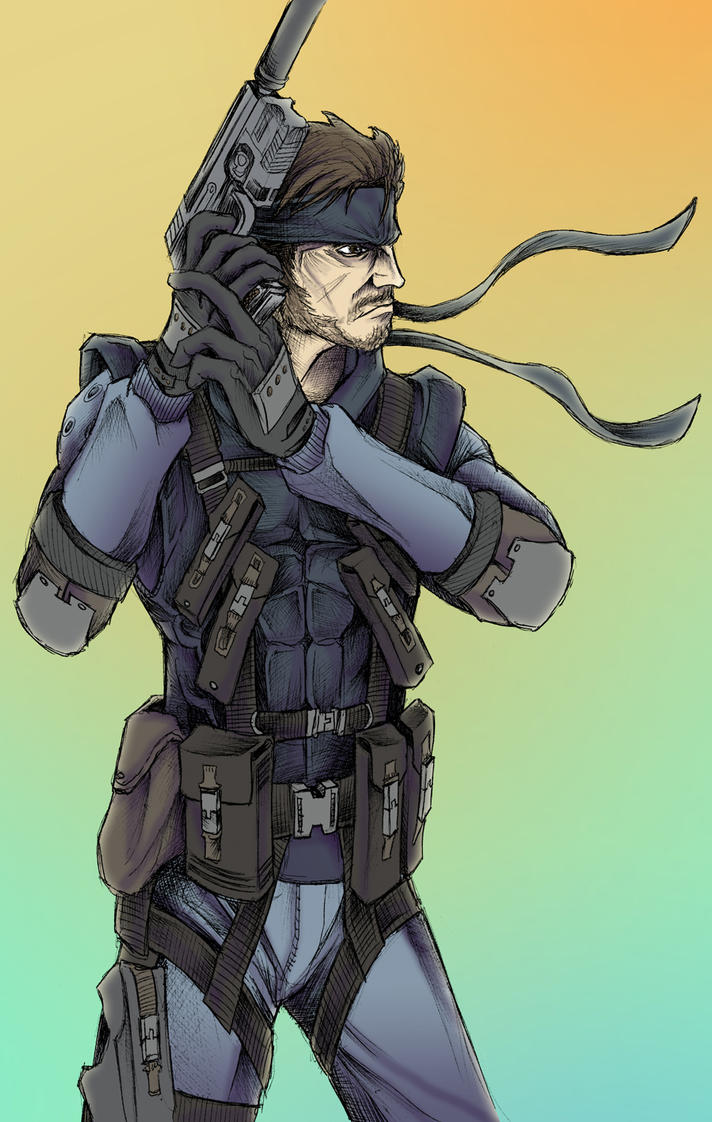 Solid Snake by JeffyP