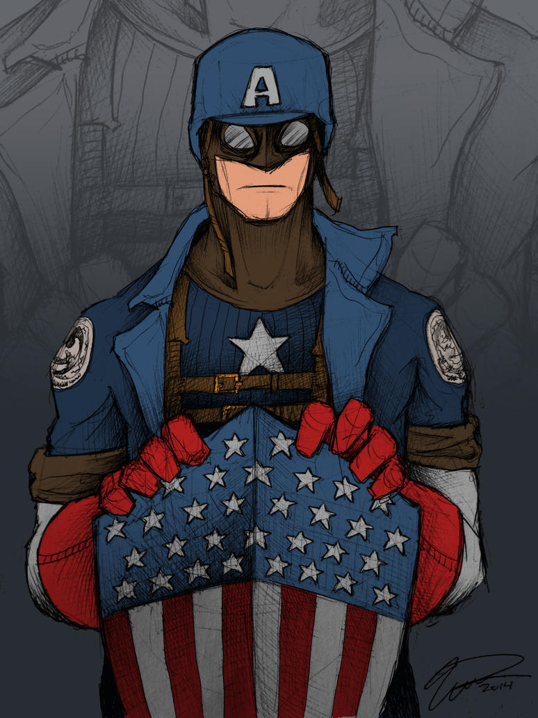 WWII Captain America by JeffyP