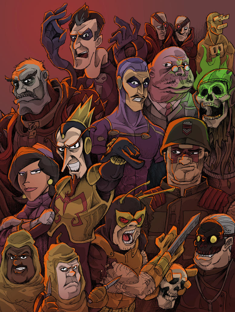Venture Bros Villains! by JeffyP