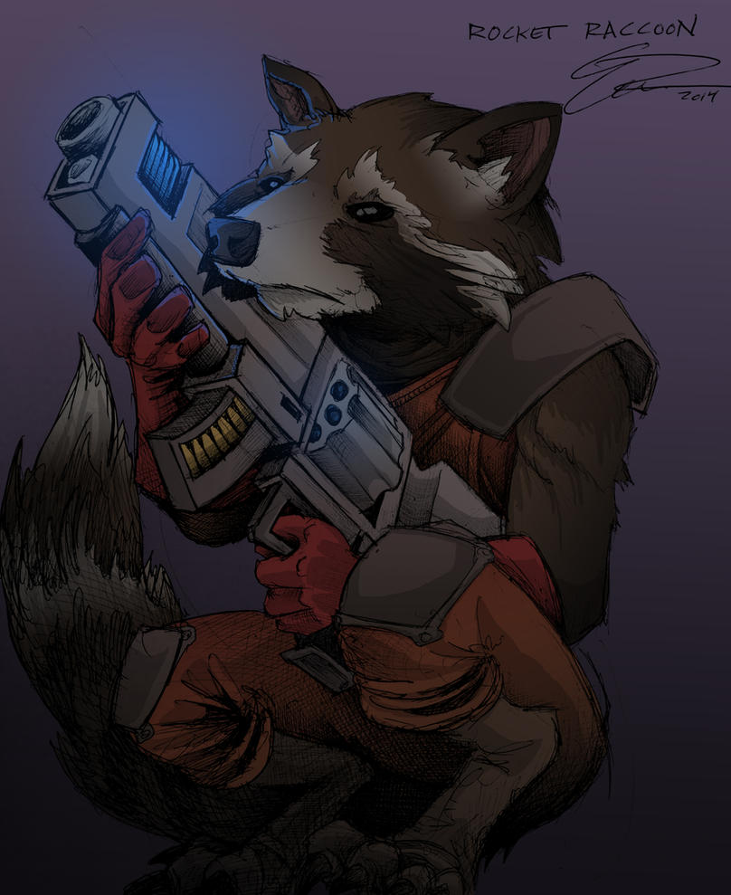 Rocket Raccoon! by JeffyP