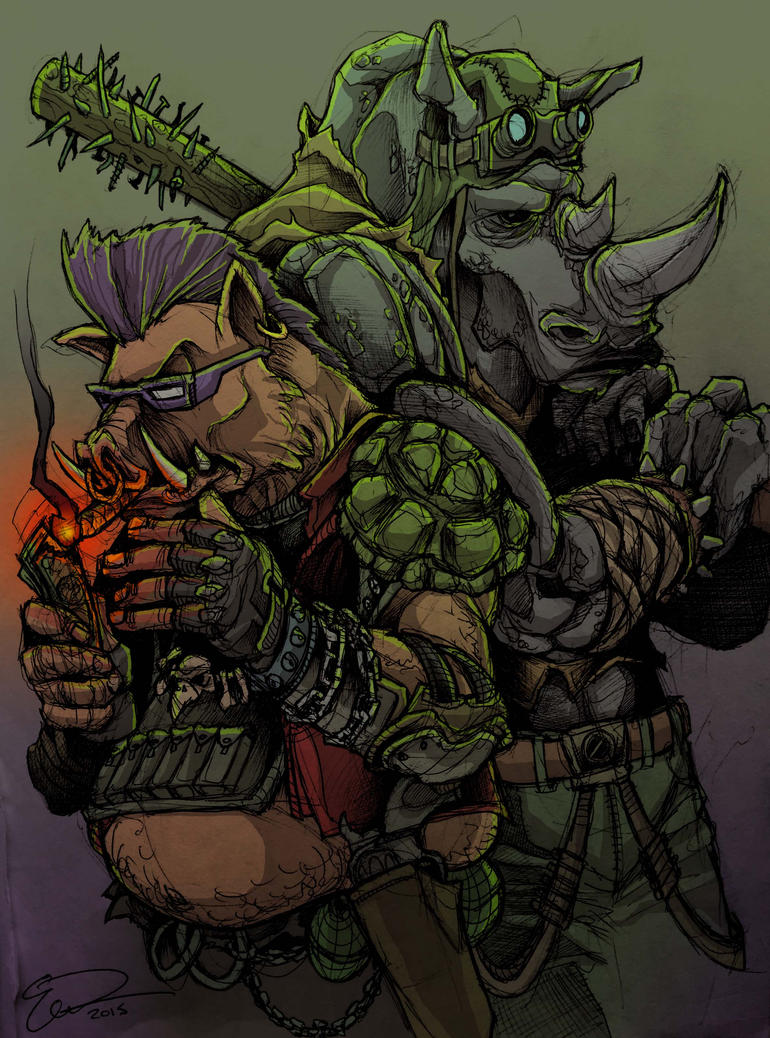 TMNT- Bebop and Rocksteady! by JeffyP