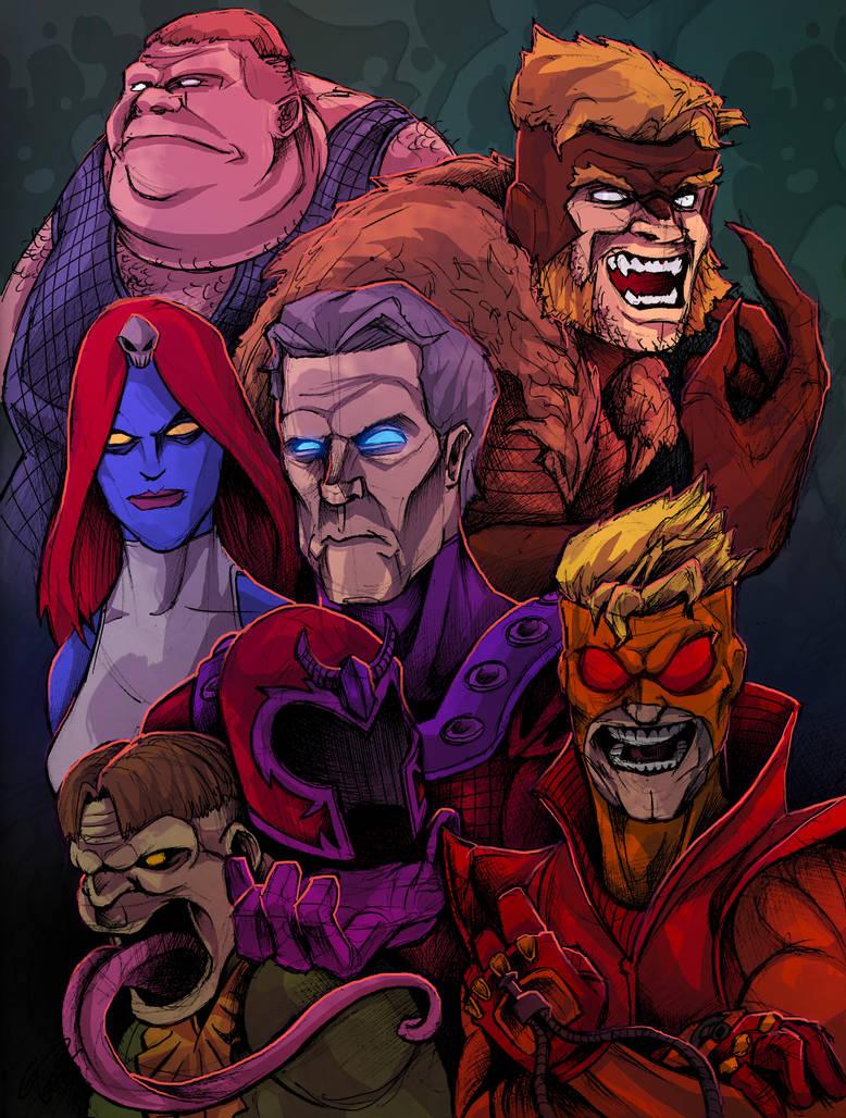 X-Men Brotherhood of Evil Mutants! by JeffyP