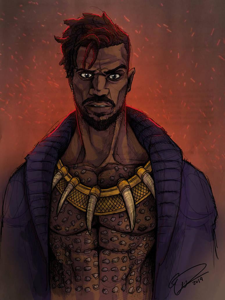 Erik Killmonger from Black Panther by JeffyP