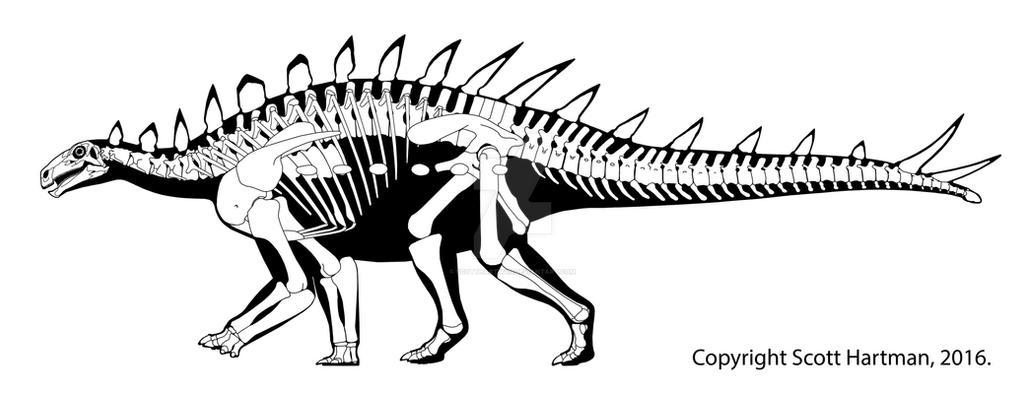 Huayangosaurus - a primitive little stegosaur by ScottHartman