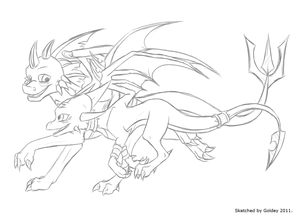 spyro and cynder coloring pages - photo#13