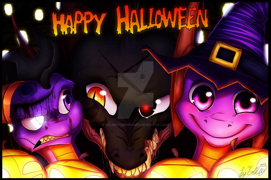 Happy Halloween 2012! 1/2 by GoldenTigerDragon