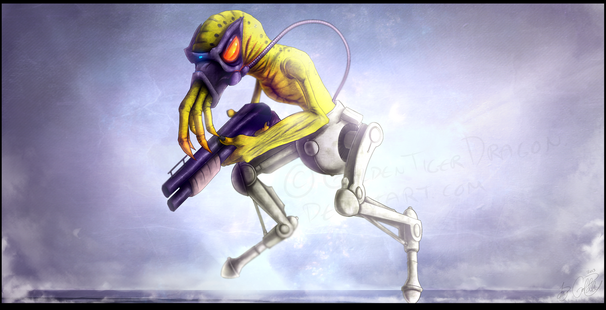 Oddworld - Slig by GoldenTigerDragon