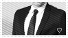 Suit n' Tie stamp by GoldeyWasHere